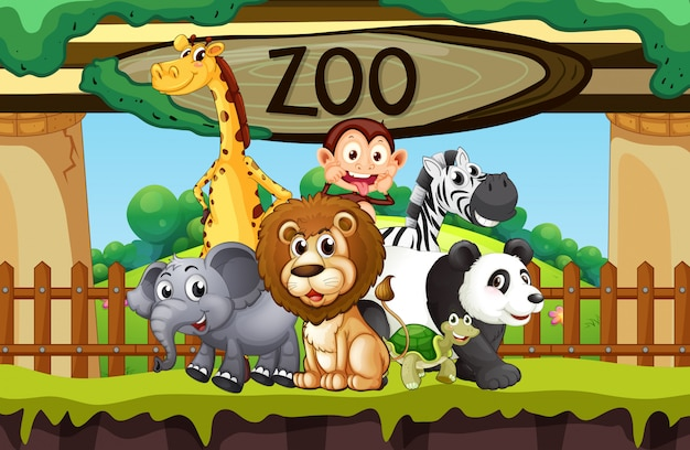 Wilde tiere im zoo