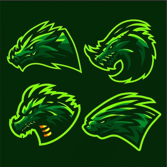 Wilder drache logo set