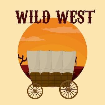 Wilder westen konzept