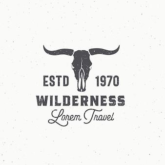 Wilderness abstract zeichen, symbol oder logo-vorlage.