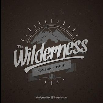 Wilderness vintage abzeichen
