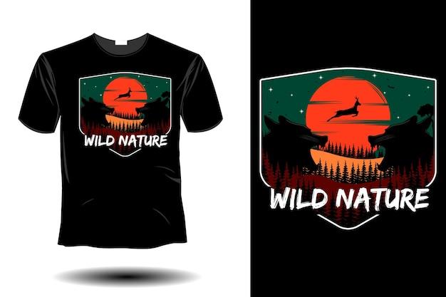 Wildes naturmodell retro-vintage-design