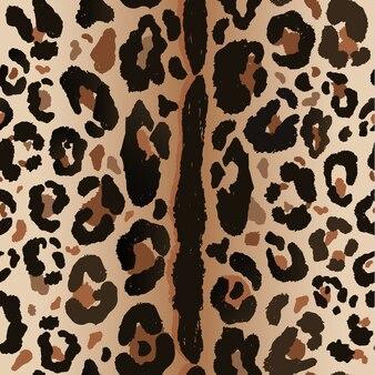 Wildes naturmuster des nahtlosen leoparden