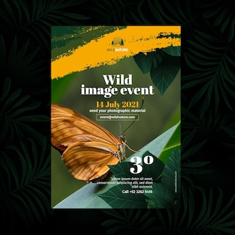 Wildes naturplakatkonzept