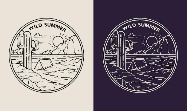 Wildes sommerwüstenmonoline-abzeichen