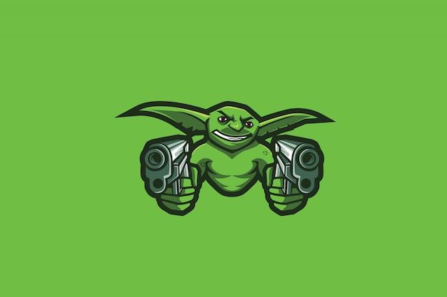 Wildes sport-logo des kobold-e