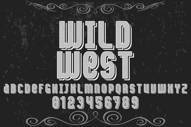 Wildes westliches alphabet