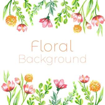 Wildflower aquarell hintergrund