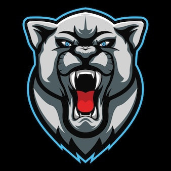 Wildkatze esport logo illustration