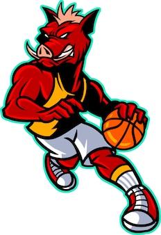 Wildschwein-basketball