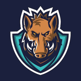 Wildschwein esport logo illustration