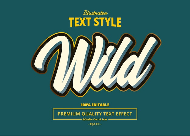 Wildtext-effekt