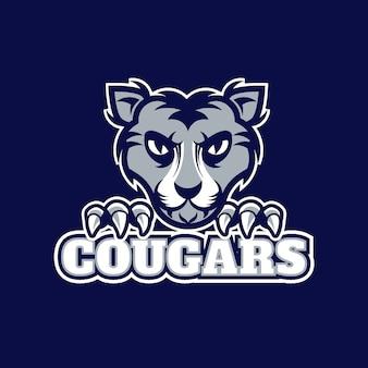 Wildtier maskottchen logo