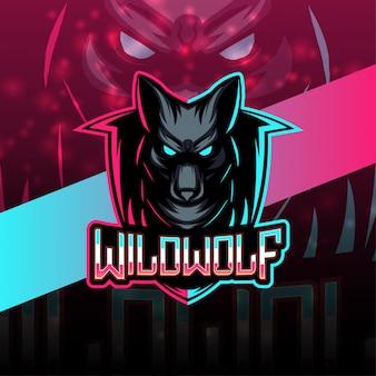 Wilfwolf esport maskottchen logo