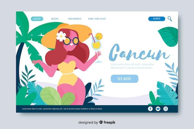 Willkommen auf der cancun landing page