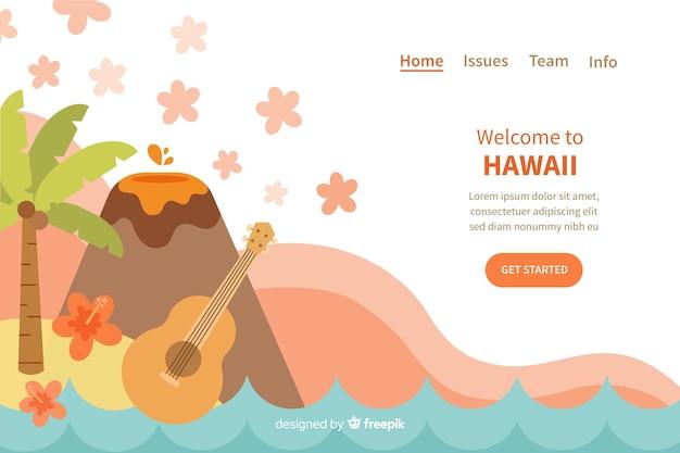 Willkommen auf der hawaii landing page
