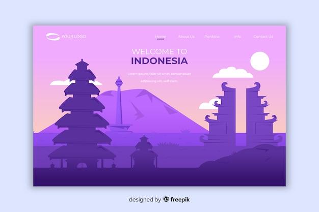 Willkommen auf der indonesischen landing page