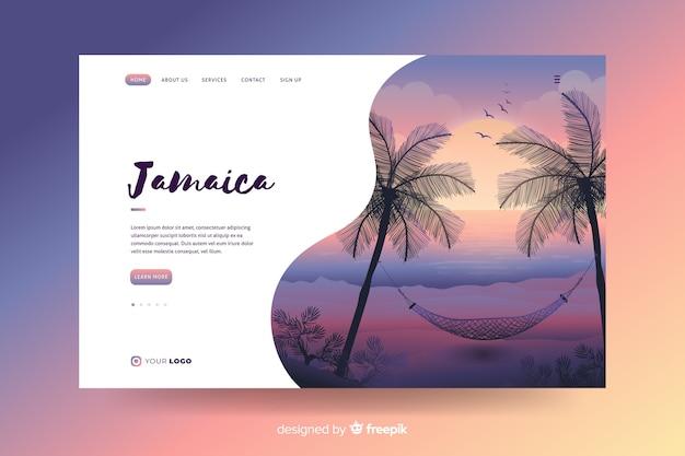 Willkommen auf der jamaika landing page