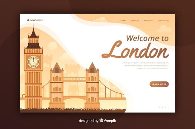 Willkommen auf der land landing page