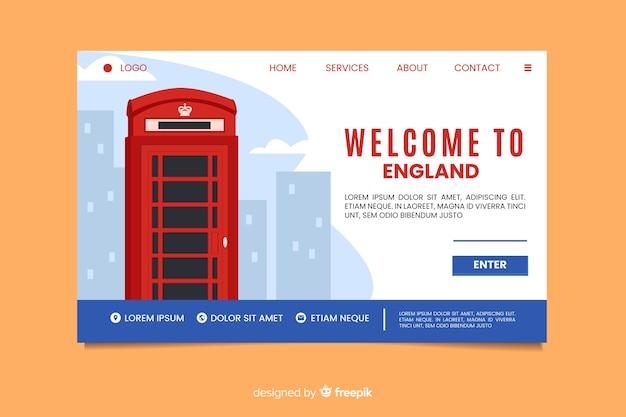 Willkommen auf der landing page von england