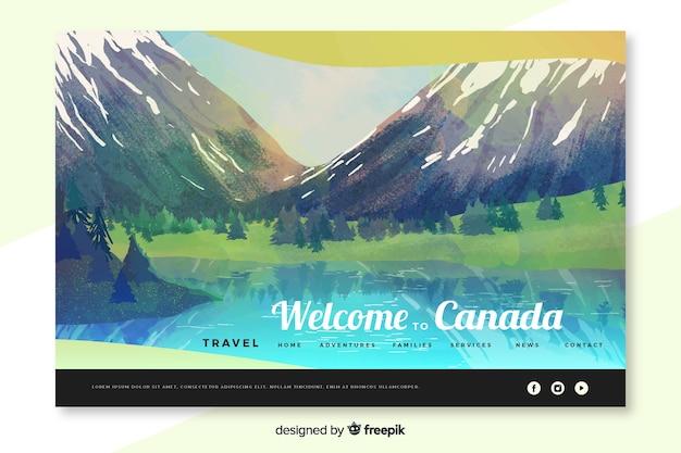 Willkommen auf der landing page von kanada
