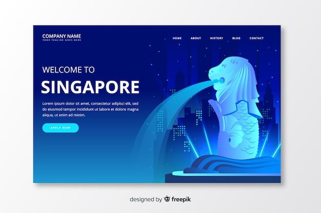 Willkommen auf der landing page von singapur
