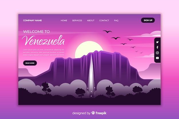 Willkommen auf der landingpage von venezuela