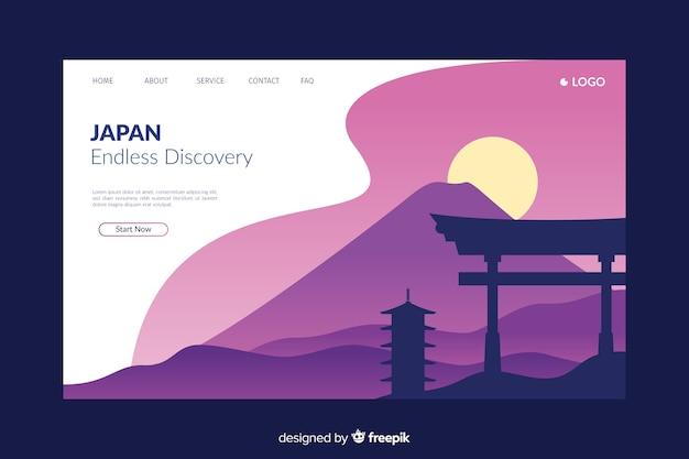 Willkommen auf der lila landingpage von japan