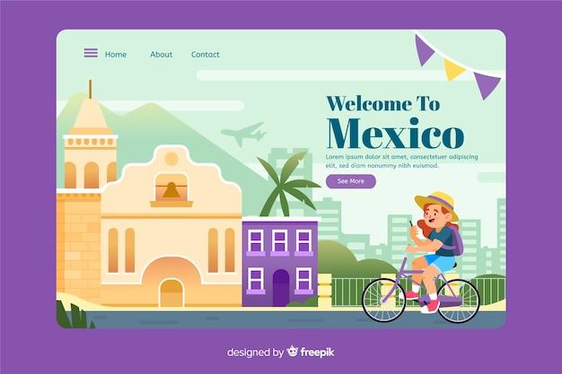 Willkommen auf der mexikanischen landing page