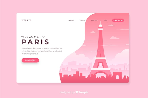 Willkommen auf der pariser landingpage