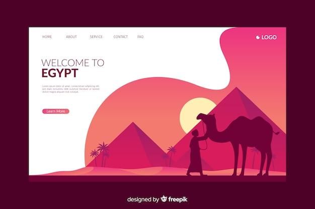 Willkommen auf der roten ägypten-landingpage