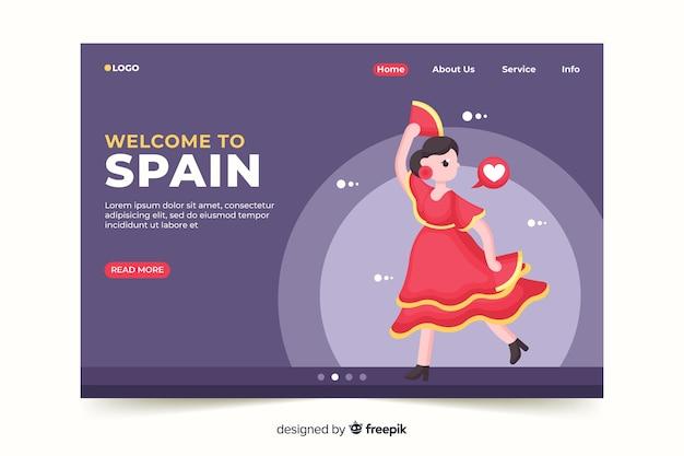 Willkommen auf der spanischen landing page