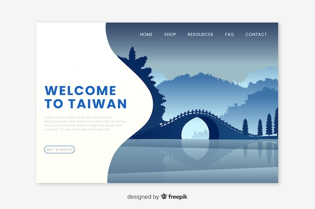 Willkommen auf der taiwan landing page
