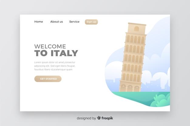 Willkommen auf der zielseite von italien