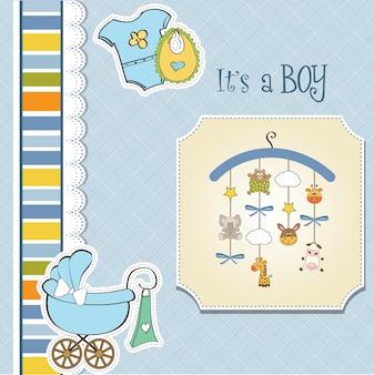 Willkommen baby ankündigung karte