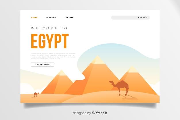 Willkommen bei der ägypten landing page vorlage