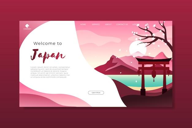 Willkommen bei der japan landing page template