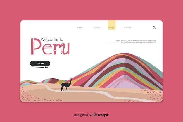 Willkommen bei der peru landing page vorlage