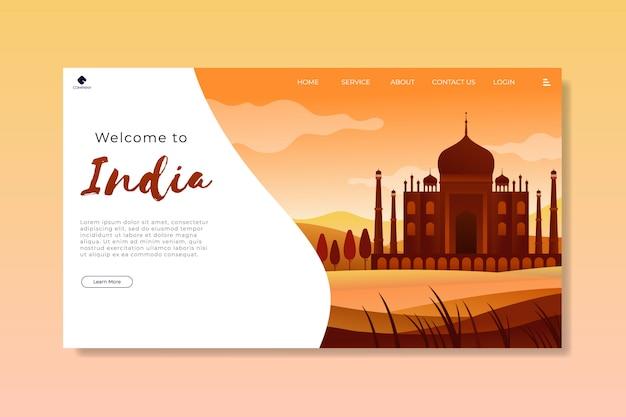 Willkommen bei india landing page template