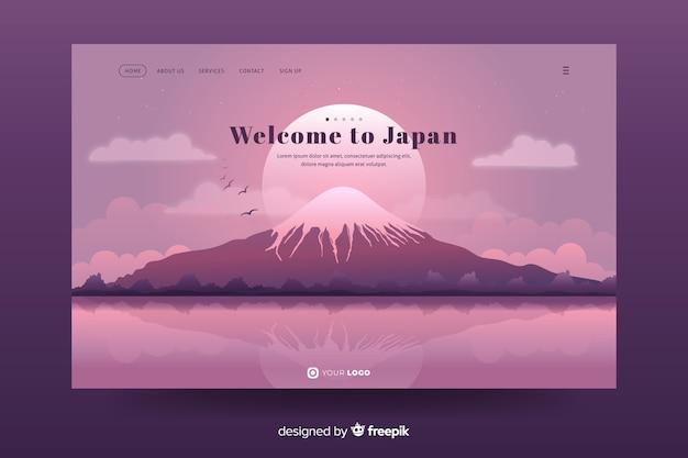 Willkommen bei japan landing page design