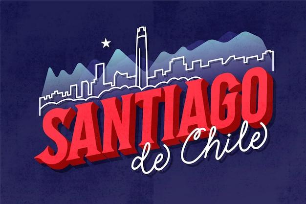 Willkommen bei santiago de chile schriftzug