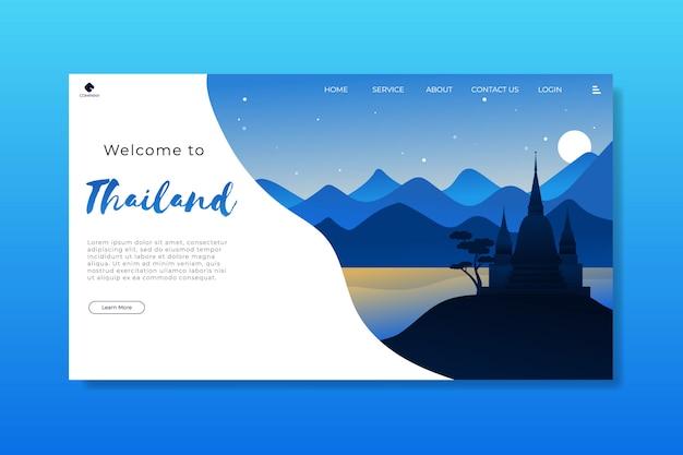 Willkommen bei thailand landing page template