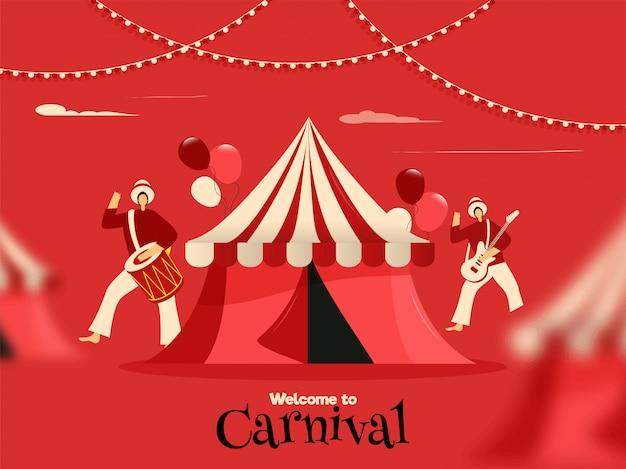 Willkommen beim karnevalsposter
