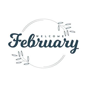 Willkommen februar illustration