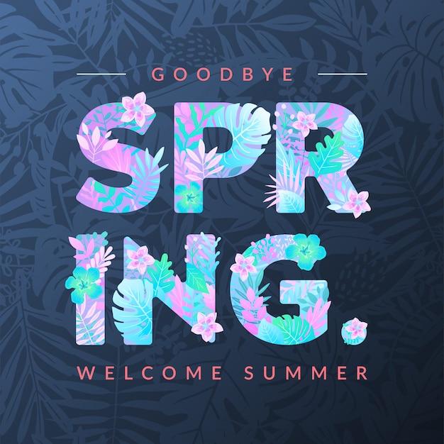 Willkommen im sommer, auf wiedersehen im frühling