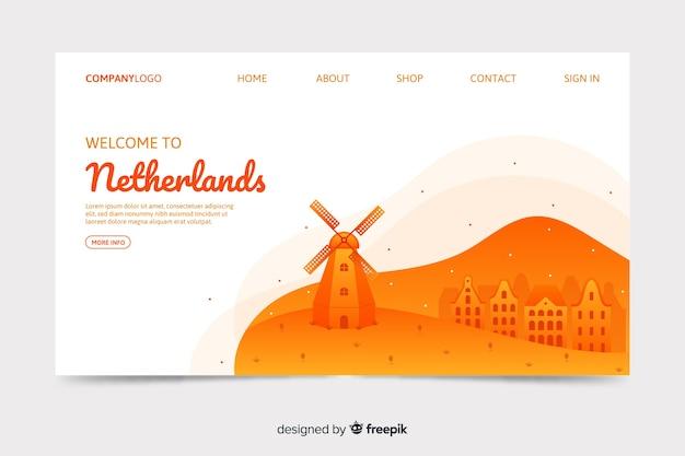 Willkommen in den niederlanden landing page template