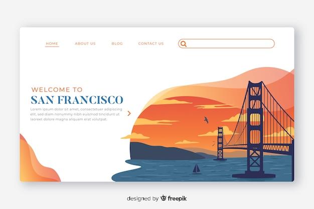 Willkommen in der san francisco landing page vorlage