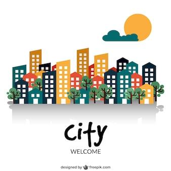 Willkommen in der stadt