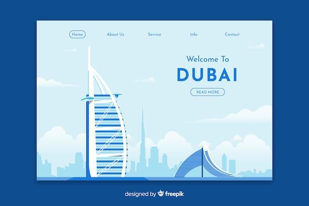 Willkommen in dubai landing page template