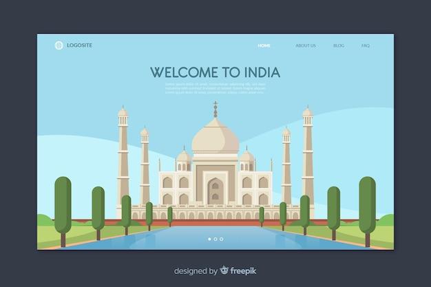 Willkommen in indien landing page template